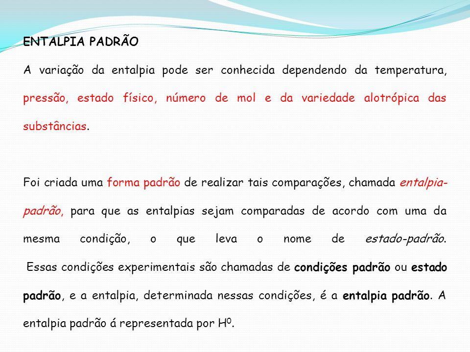 ENTALPIA PADRÃO