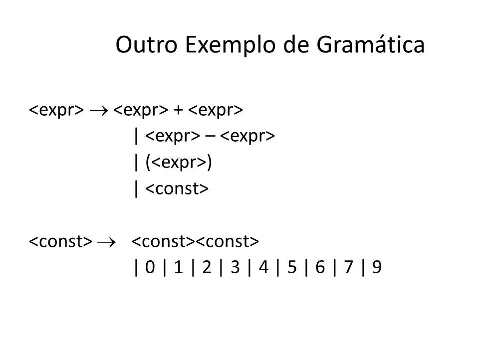 Outro Exemplo de Gramática