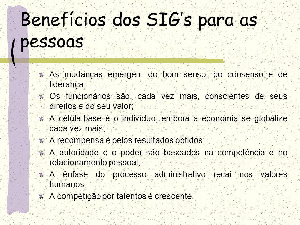 Benefícios dos SIG's para as pessoas