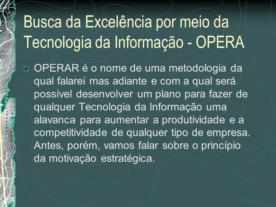 Busca da Excelência por meio da Tecnologia da Informação - OPERA