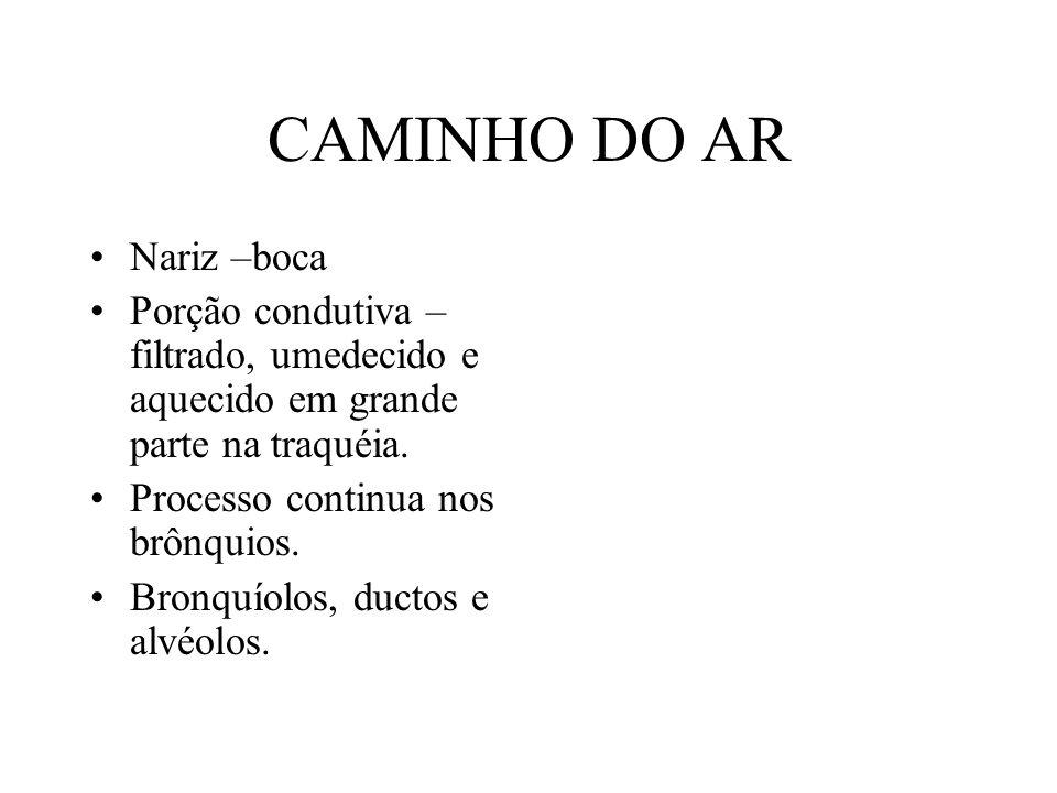 CAMINHO DO AR Nariz –boca