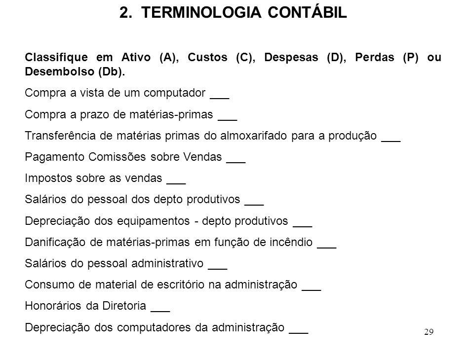 2. TERMINOLOGIA CONTÁBIL