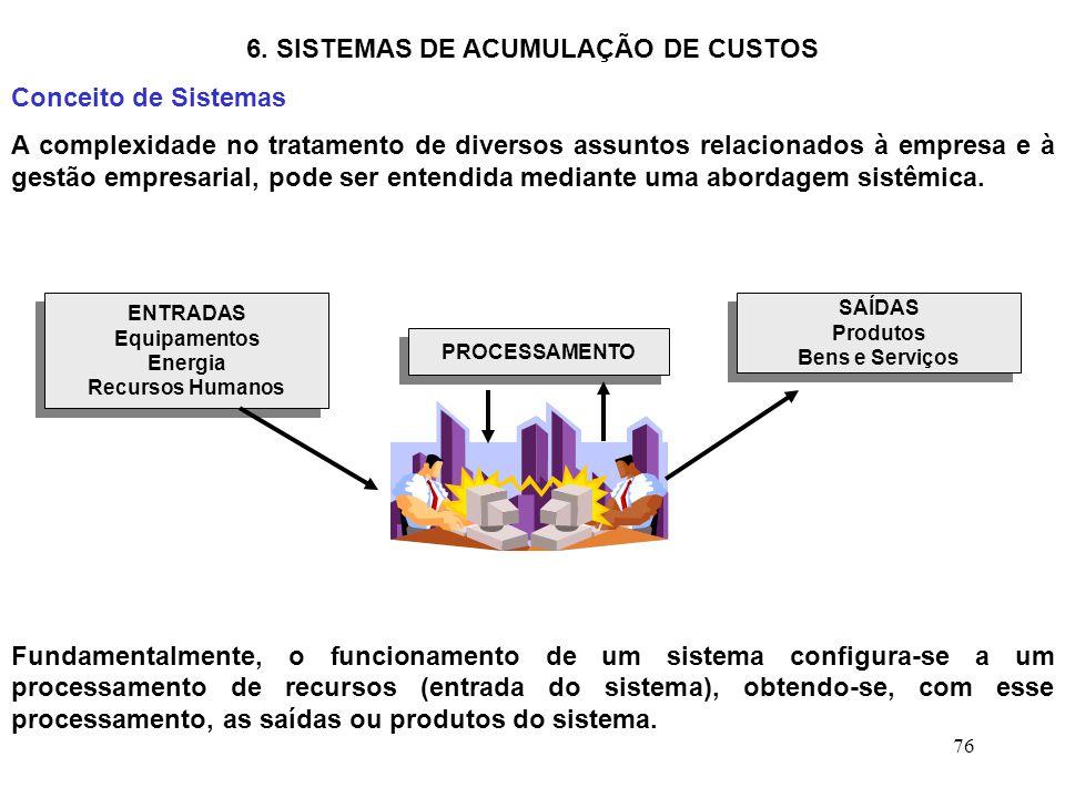 6. SISTEMAS DE ACUMULAÇÃO DE CUSTOS