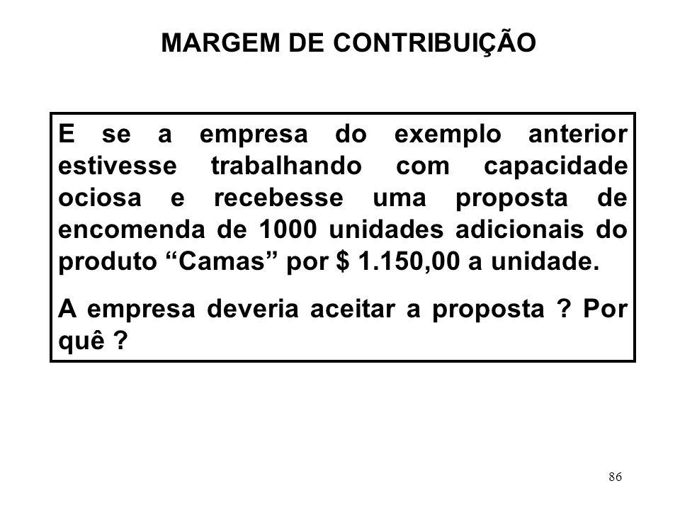 MARGEM DE CONTRIBUIÇÃO