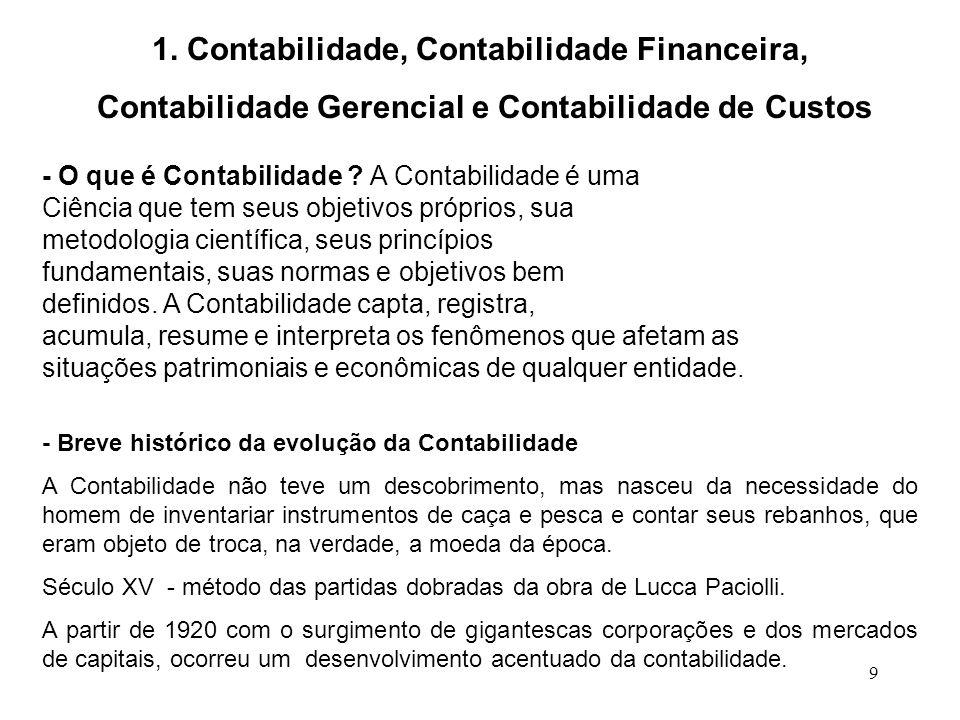1. Contabilidade, Contabilidade Financeira,