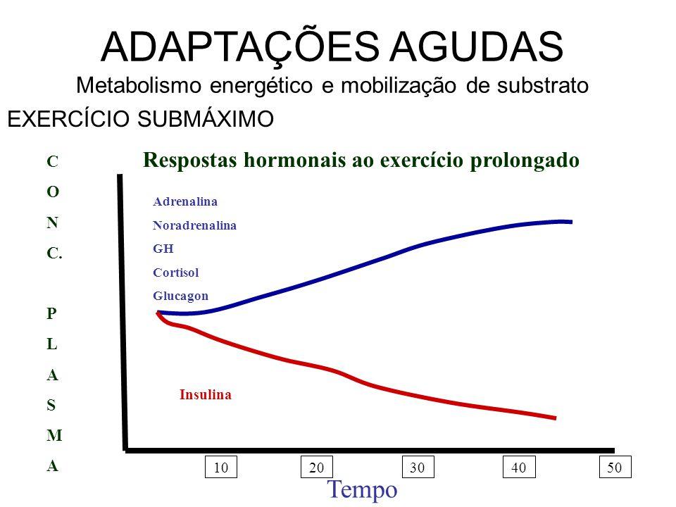 ADAPTAÇÕES AGUDAS Metabolismo energético e mobilização de substrato