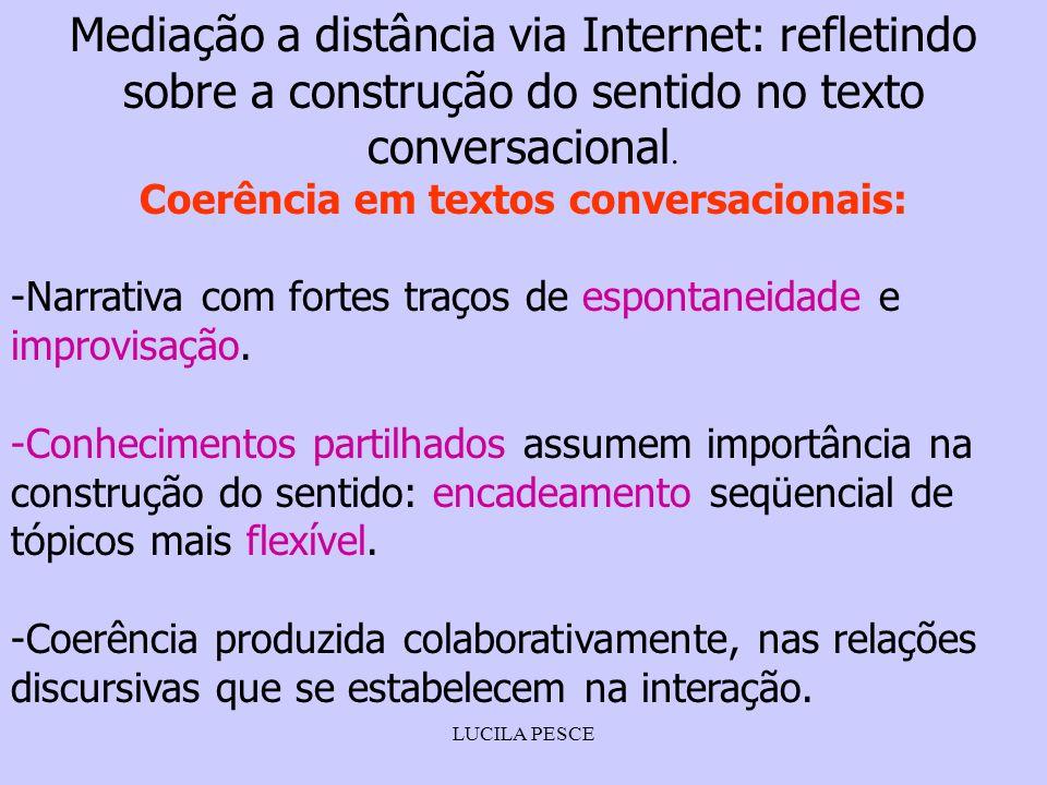 Coerência em textos conversacionais: