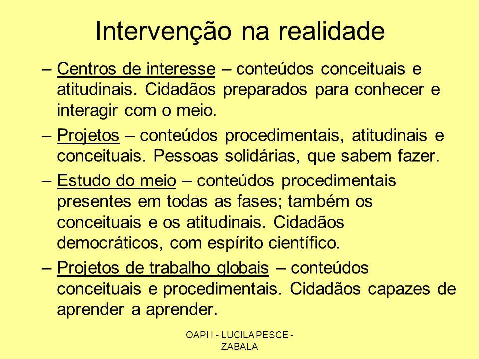Intervenção na realidade