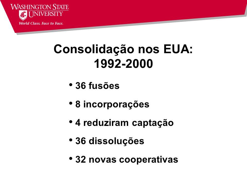 Consolidação nos EUA: 1992-2000