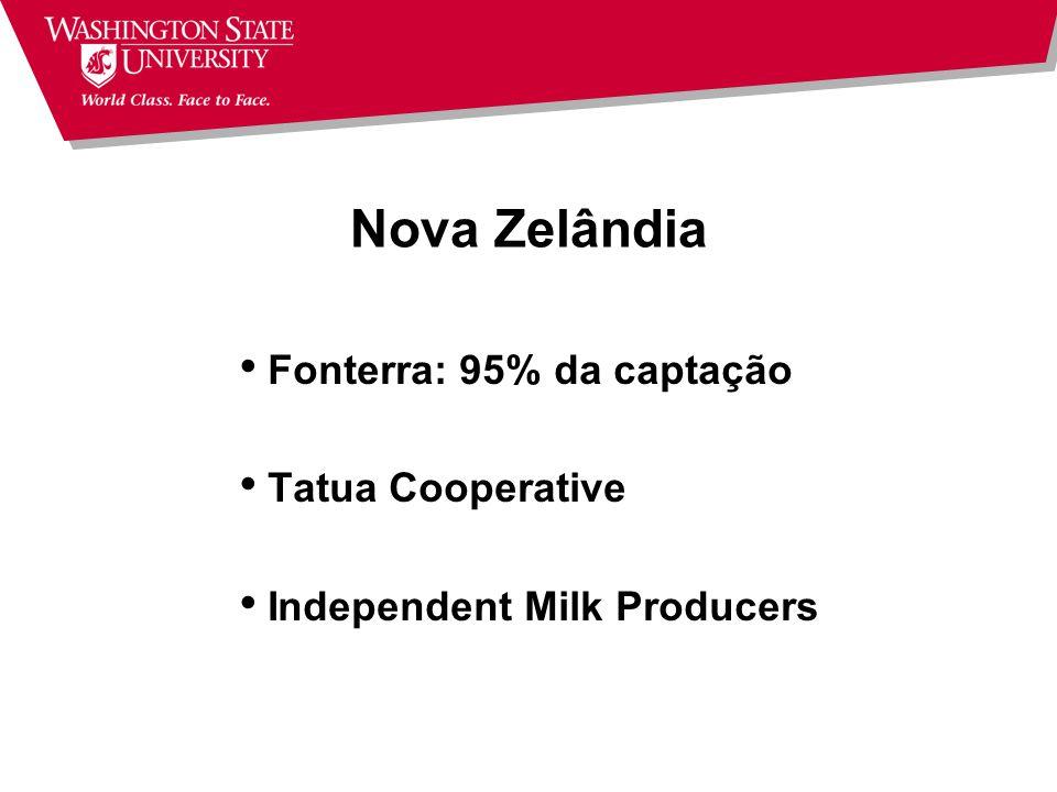 Nova Zelândia Fonterra: 95% da captação Tatua Cooperative