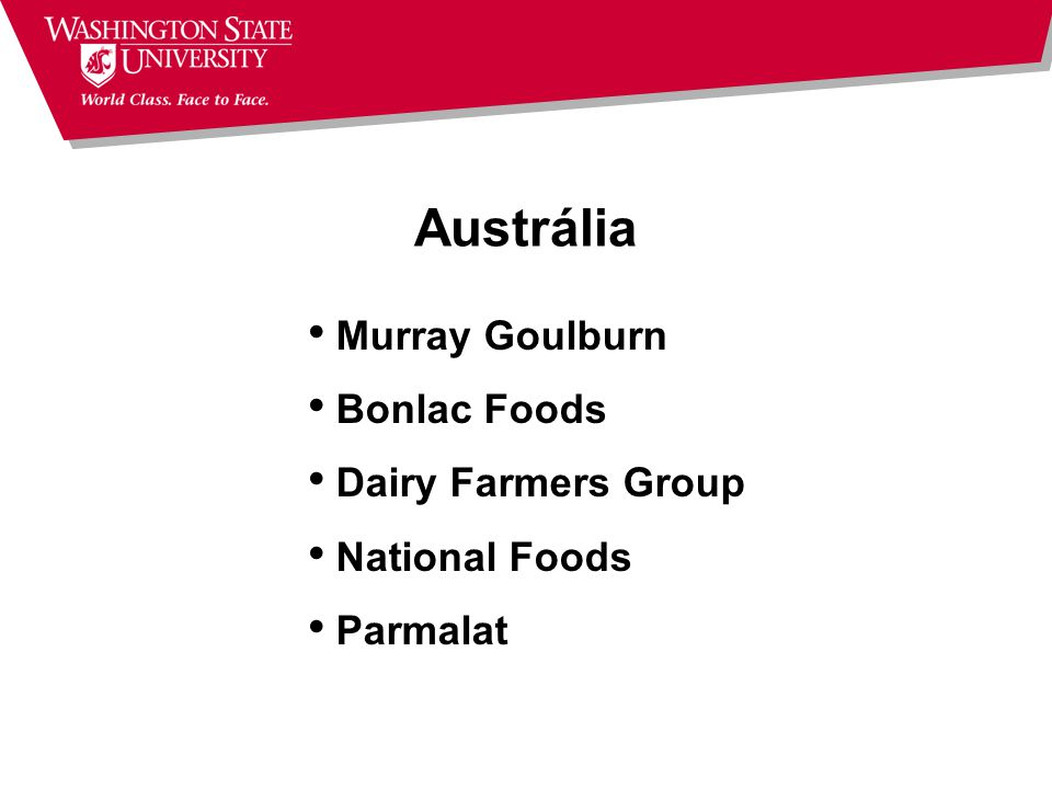 Austrália Murray Goulburn Bonlac Foods Dairy Farmers Group