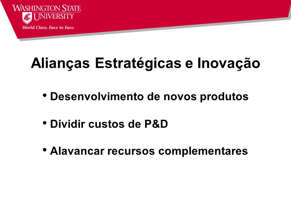 Alianças Estratégicas e Inovação