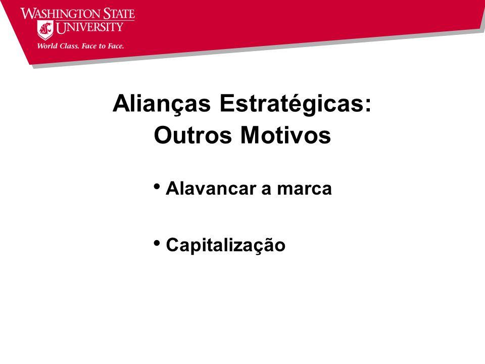 Alianças Estratégicas: Outros Motivos