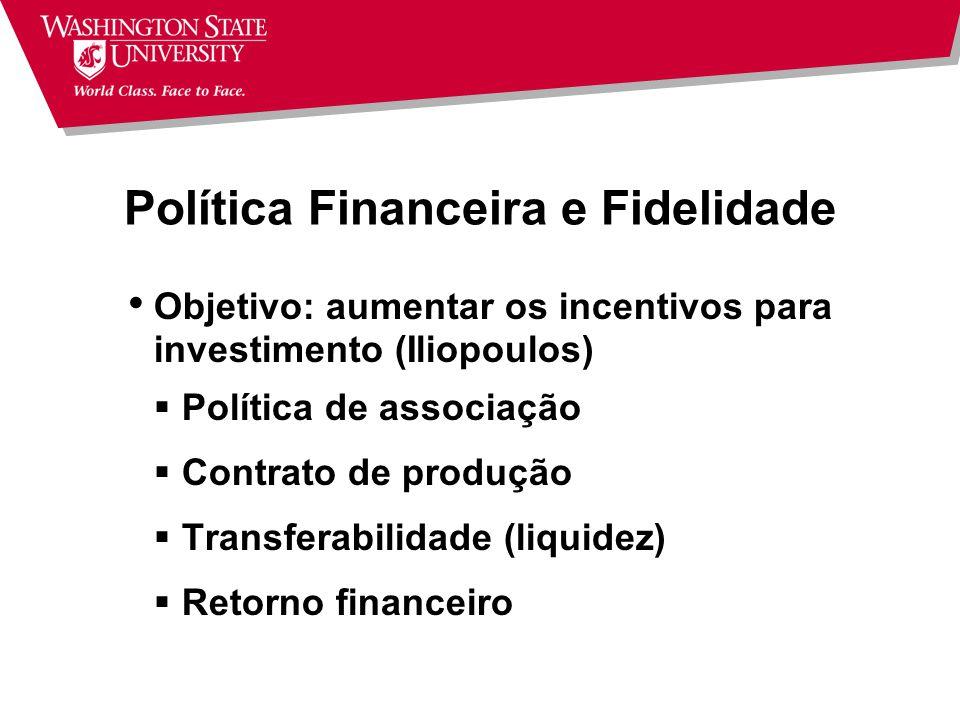 Política Financeira e Fidelidade