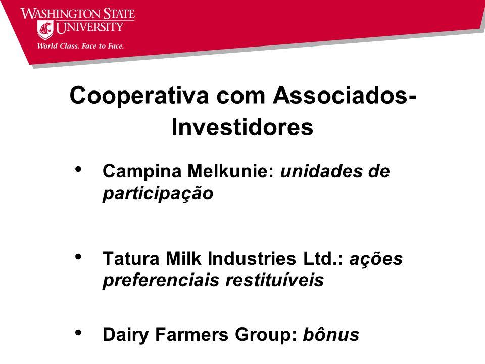Cooperativa com Associados-Investidores