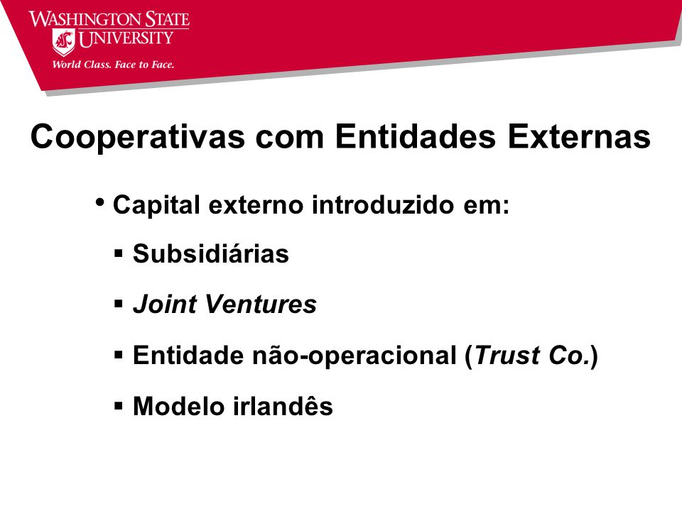 Cooperativas com Entidades Externas