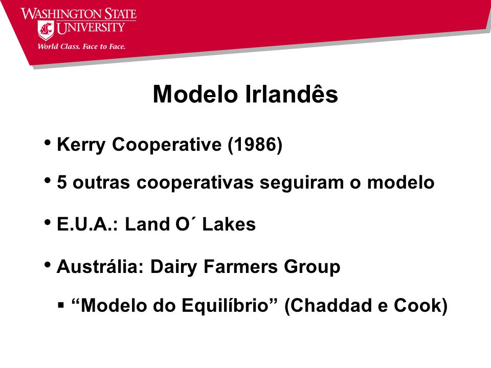 Modelo Irlandês Kerry Cooperative (1986)