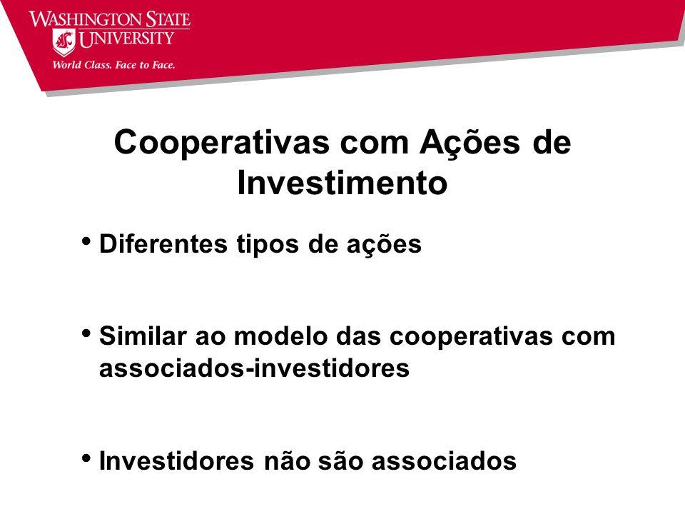 Cooperativas com Ações de Investimento
