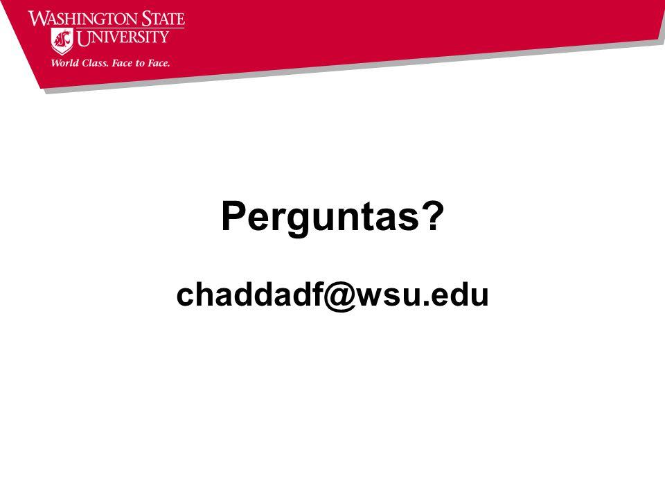 Perguntas chaddadf@wsu.edu