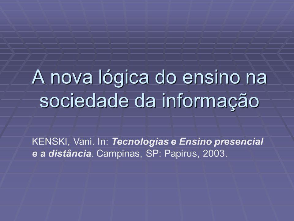 A nova lógica do ensino na sociedade da informação