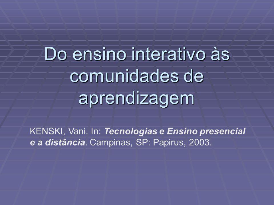 Do ensino interativo às comunidades de aprendizagem