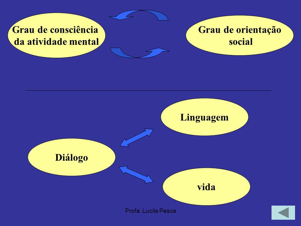 Grau de consciência Grau de orientação da atividade mental social
