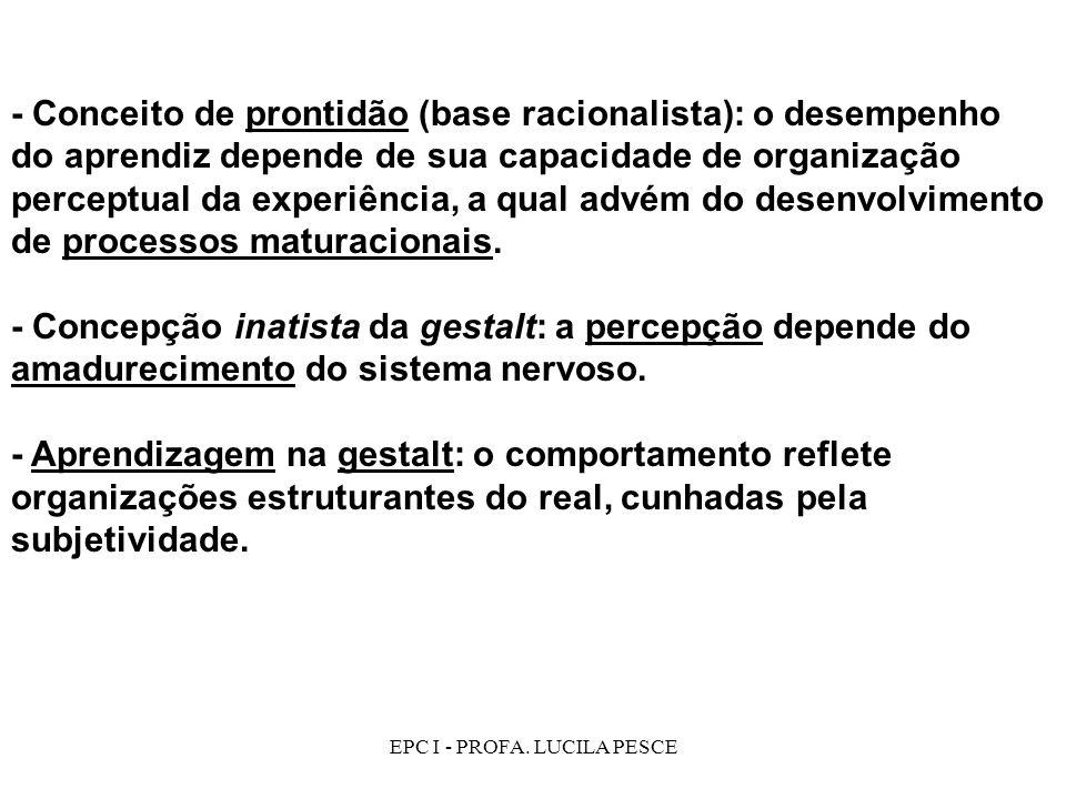 EPC I - PROFA. LUCILA PESCE