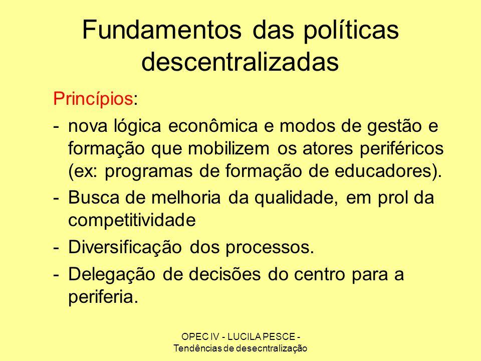 Fundamentos das políticas descentralizadas