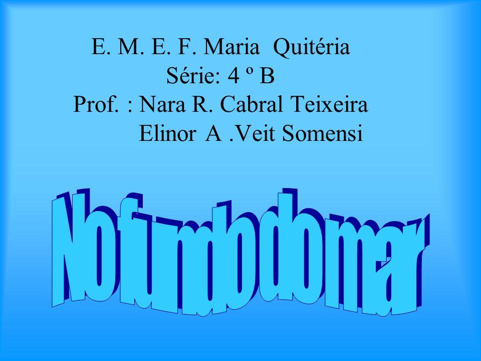 E. M. E. F. Maria Quitéria Série: 4 º B Prof. : Nara R