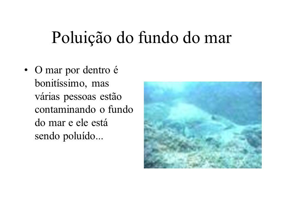 Poluição do fundo do mar