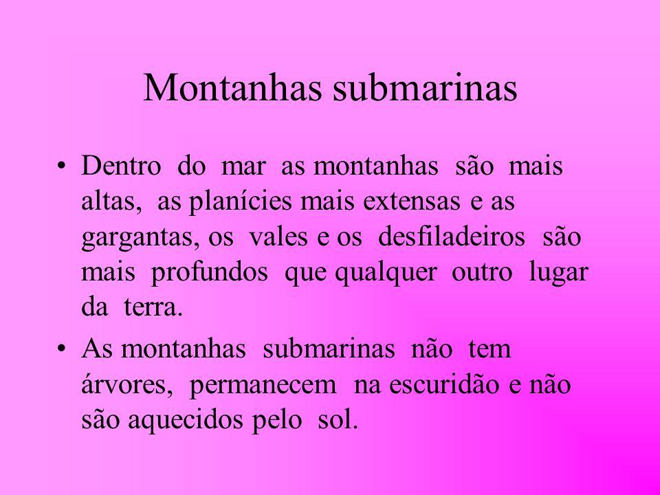 Montanhas submarinas