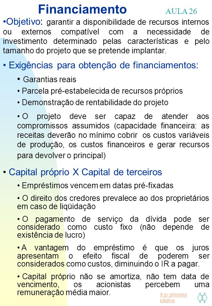 Financiamento AULA 26.