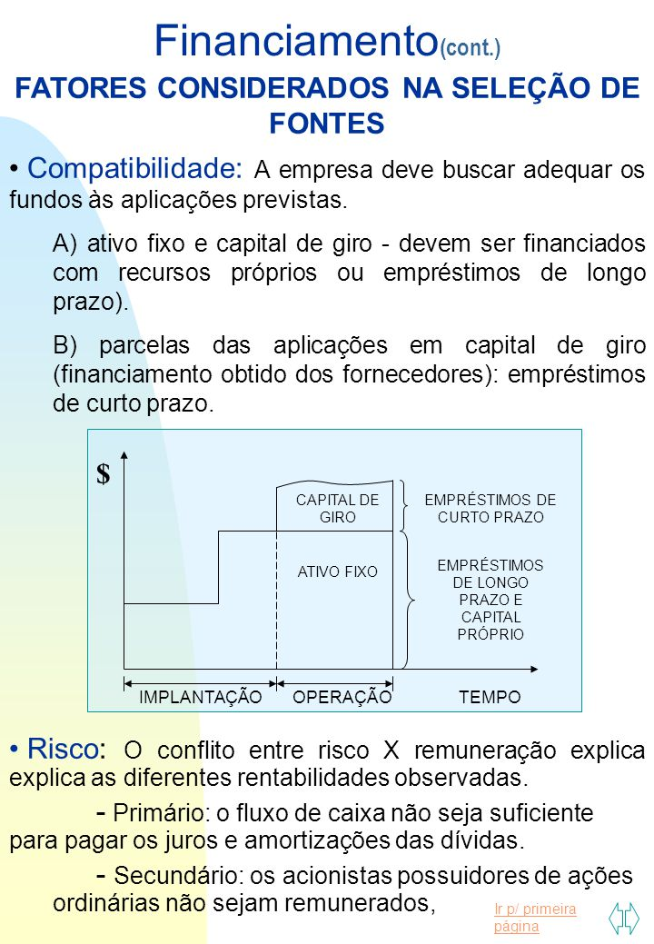 FATORES CONSIDERADOS NA SELEÇÃO DE FONTES