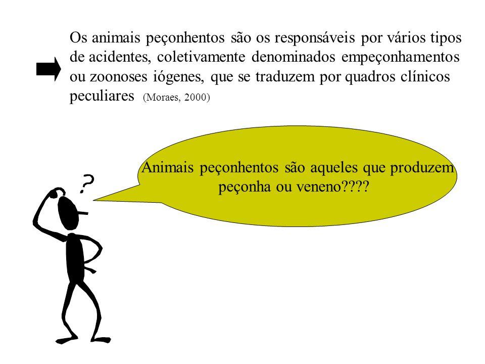 Animais peçonhentos são aqueles que produzem