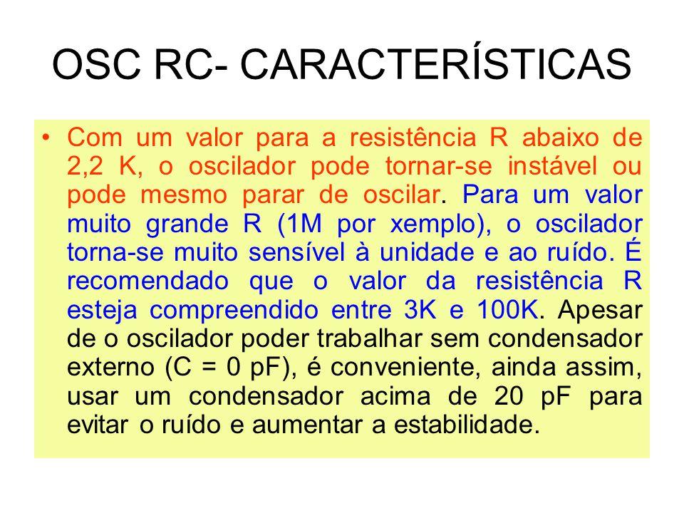 OSC RC- CARACTERÍSTICAS