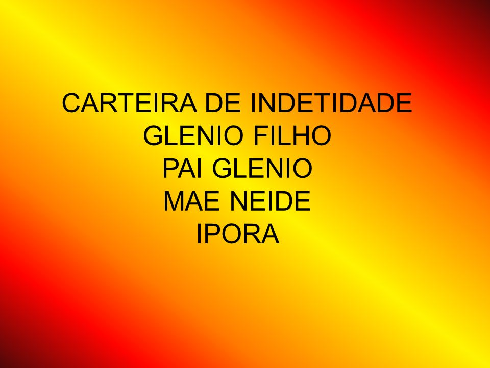 CARTEIRA DE INDETIDADE