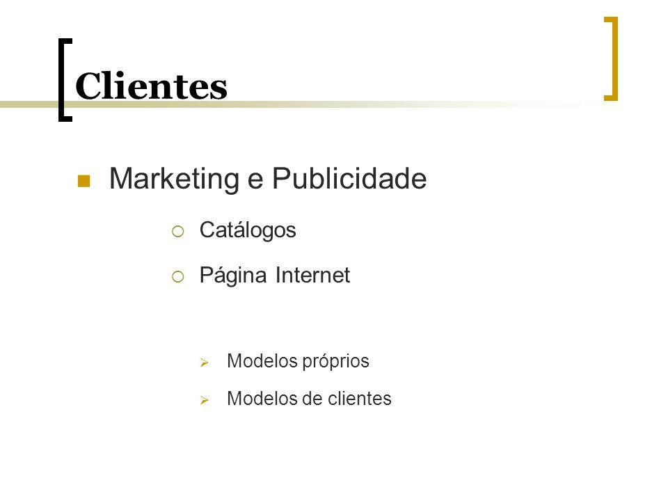 Clientes Marketing e Publicidade Catálogos Página Internet