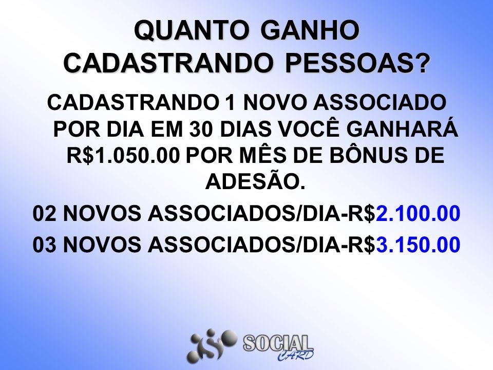 QUANTO GANHO CADASTRANDO PESSOAS
