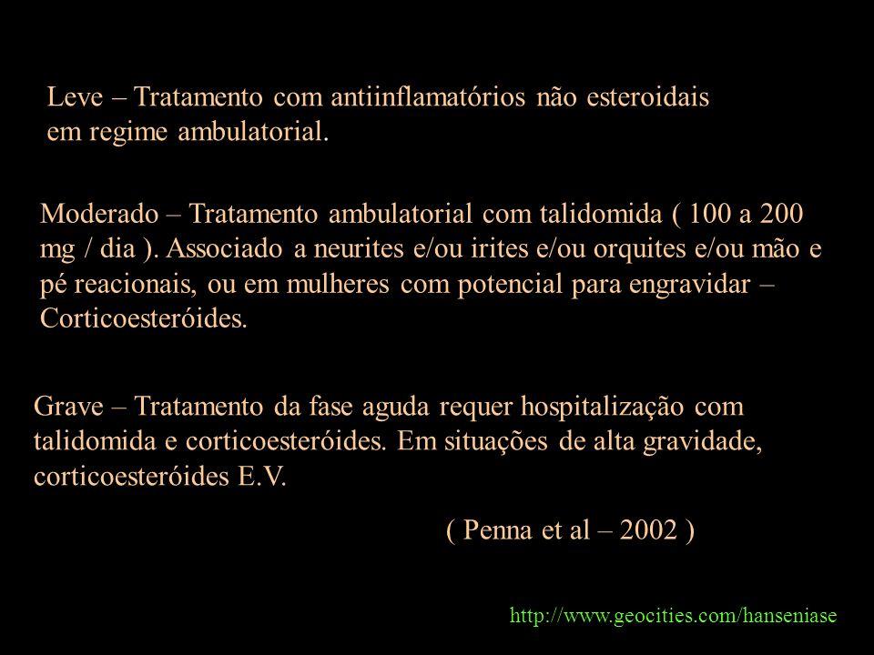 Leve – Tratamento com antiinflamatórios não esteroidais em regime ambulatorial.