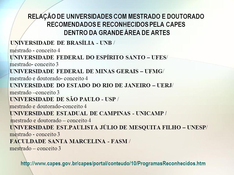 UNIVERSIDADE DE BRASÍLIA - UNB /