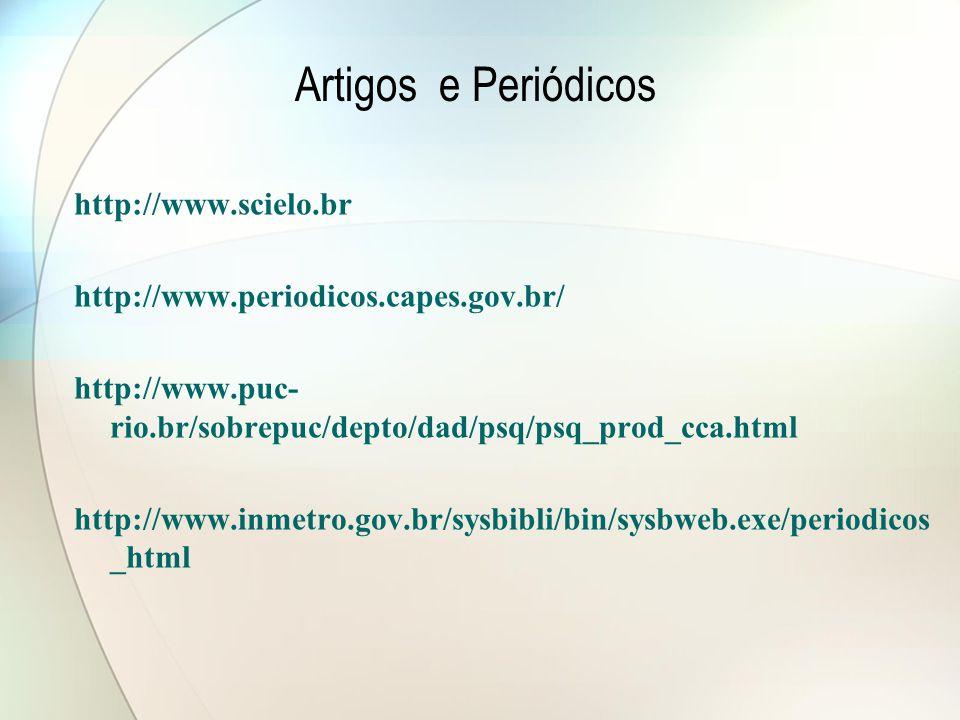 Artigos e Periódicos http://www.scielo.br