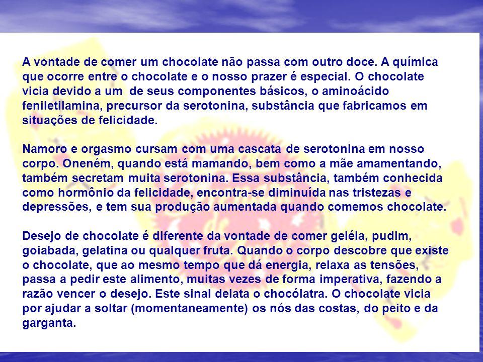 A vontade de comer um chocolate não passa com outro doce