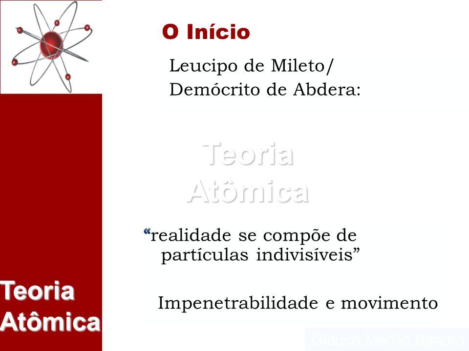 O Início Leucipo de Mileto/ Demócrito de Abdera: