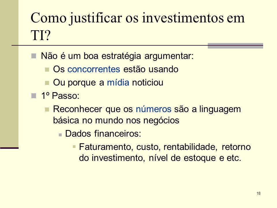 Como justificar os investimentos em TI