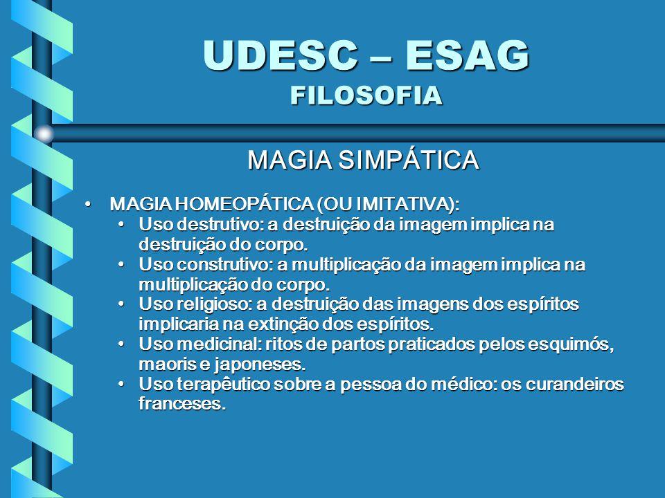 UDESC – ESAG FILOSOFIA MAGIA SIMPÁTICA
