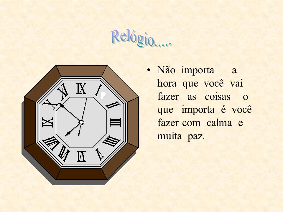 Relógio.....