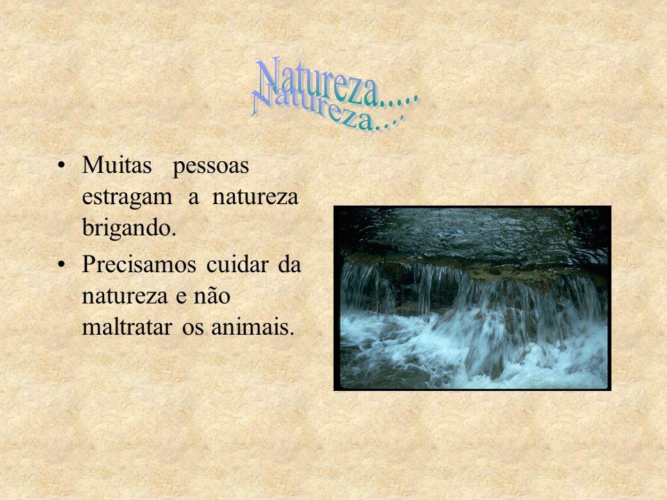 Natureza.... Natureza..... Muitas pessoas estragam a natureza brigando.