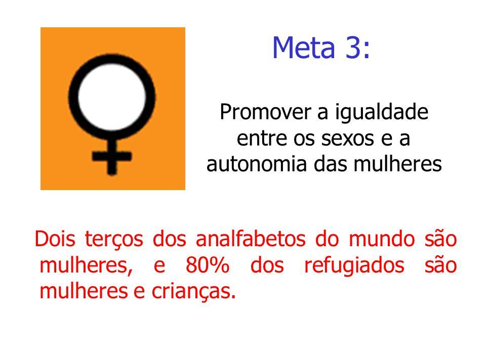 Promover a igualdade entre os sexos e a autonomia das mulheres