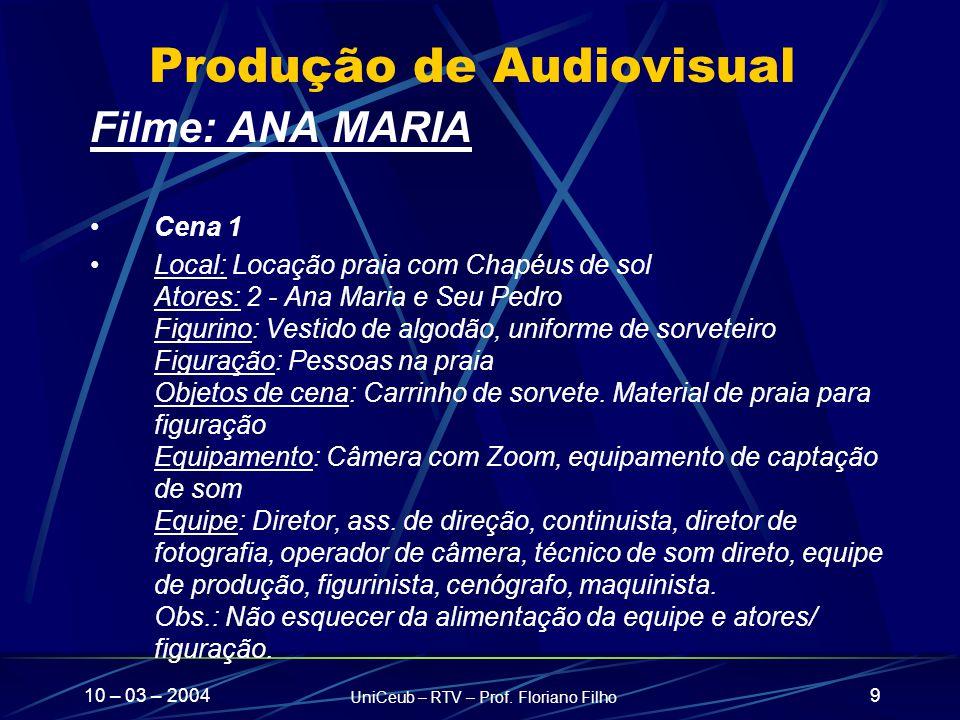 Produção de Audiovisual