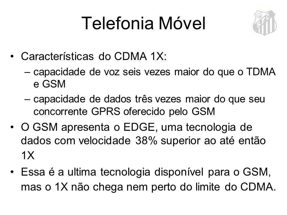 Telefonia Móvel Características do CDMA 1X: